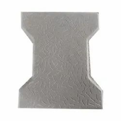 Concrete 60mm I Shaped Gray Interlocking Block, For Pavement, Size: 10x8cm