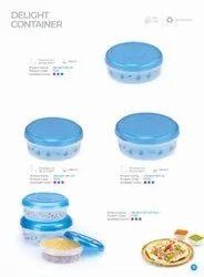 Plastic Kitchen Storage Containers, Round