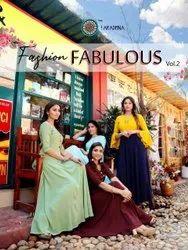 Aradhna Fashion Fabulous Vol 2 Rayon Embroidery Work Kurti Catalog
