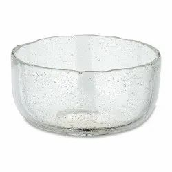 Transporter Round Transparent Glass Bowl, For Home, Set Contains: 1