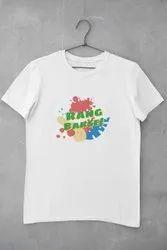 White Casual Wear Ladies Half Sleeve Printed T Shirts, Size: Medium