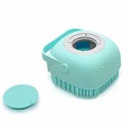 Body Bath Brush, Silicone Soft Cleaning Bath Body Brush With Shampoo Dispenser Skin Massage Brush