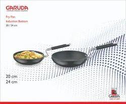 Garuda Black SS Induction Base Fry Pan, For Kitchen, Round