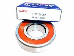 Chrome Steel Single Row NACHI 6309-2NSE9 Deep Groove Ball Bearing, For Automotive Industry