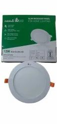 Round Cool White Indiabulls IB 12 W ECO Glow LED Penal, For Home, IP33