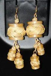 Woven Bamboo Earrings
