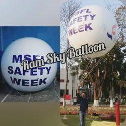 White Advertising Sky Balloon