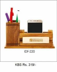 Wooden Pen Stand & Mobile Stand