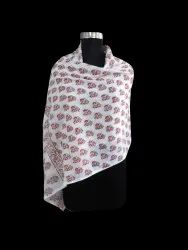 Small Booti Cotton Block Print Scarf and Stole