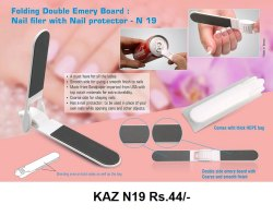 Folding Double Emery Board Nail Filer With Nail Protector