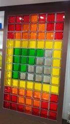 Designer Glass Block, Size: 5.5x3.5 Feet