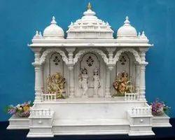 White Stone Home Temple, Size: 2x2 Feet