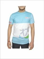 Skyblue And White Printed Sports t Shirts