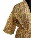 Block Print Long Kimono Robe