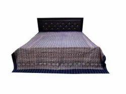 Blue Ajarak  Printed Kantha Bedcover