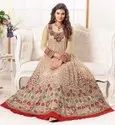 Embroidery Ladies Embroidered Net Gown