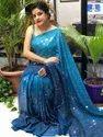 Present Rangoli Silk Saree With Heavy Sequence Work