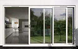 Partition Doors White Aluminium Sliding Door, For Home, Exterior