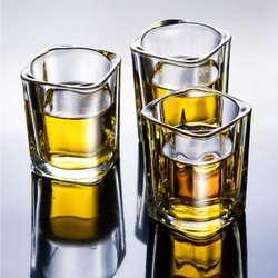 Transparent 50ml Heavy Base Clear Shot Glass Set
