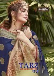 Sangam Tarz Festive Wear Silk Sarees Catalog Collection
