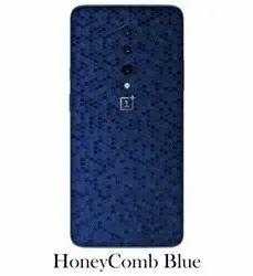 Honeycomb Blue Mobile Phone Skin