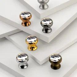 Brass Round Swarovski Crystal Knob
