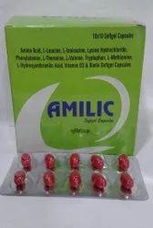 Amlic Amino Acid Soft Gel Capsule, Packaging Type: Blister