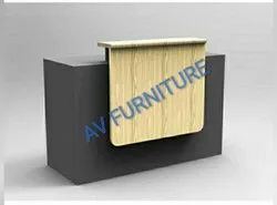 Optional Wooden Reception Table / Reception Desk / Reception Counter, For Office, 1 Year