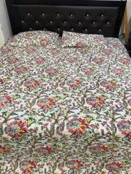 Floral Printed Reversible Bed Comforter With Two Pillow