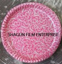 Rose Design Paper Plate BOPP 8 Micron Film / Kelapatta / Salpatta / Jindal