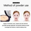Cvb C25 Powder For Long Lasting Effect, Weightless Stay Compact Powder (01, White Ivory, 12g)