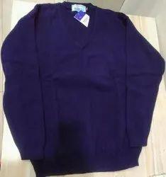 Blue Full Sleeve Uniform Woolen Sweater