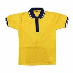 Yellow Summer School Uniform T Shirt, Size: 18-42