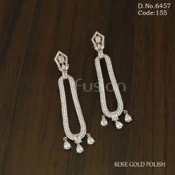 Fusion Arts American Diamond Earrings
