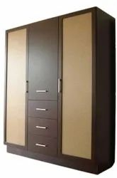 Hinged Skin Color and Brown Designer Wooden Almirah, For Home, Number Of Doors: 2
