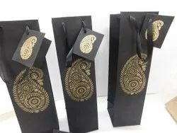Wine Bottle Bags With Logo Print Suitable For Wine Stores