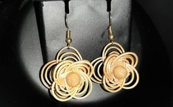 Bamboo Flower  Shaped Earrings