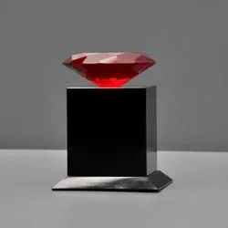 red crystal diamond with black crystal