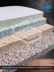 SLEEPLOOP Multicolor Bonded Foam Block, 70 - 200 Density