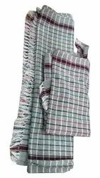 Check Cotton Bathroom Towel, Size: 27 X 54 Inches