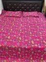 Screen Print Cotton Quilted Bed Cover With Two Pillow