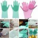 Magic Silicone Dish Washing Gloves, Silicon Cleaning Gloves, Silicon Hand Gloves For Kitchen