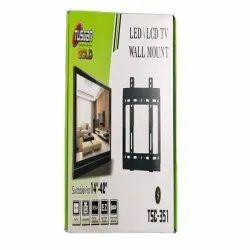 Cast Aluminium Black TSC 351 Tuscan Wall Mount LED TV Stand, Size: 27x18x2 Cm