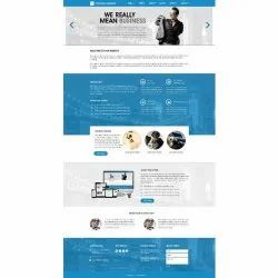 HTML5/CSS Responsive Single Page Web Designing Service, With Online Support