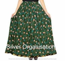 Silver Organisation Cotton Naptone Skirt, Size: XL