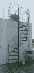 Black Mild Steel MS Round Staircase
