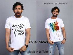 Staliano Cotton Colour Changing Holi T Shirts, Age Group: 14 To 120