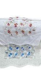 Knitted Polyester Tulip Net Printed Sofa Cover, Size: 23x30 Inch