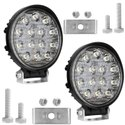 AllExtreme EX14RW2 14 LED Round Fog Light 4 Inches Waterproof Driving Lamp For Car And Bike-2 Pcs