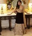 Present Tafeta Silk Lahenag With Embroidery Work With Real Mirror Work